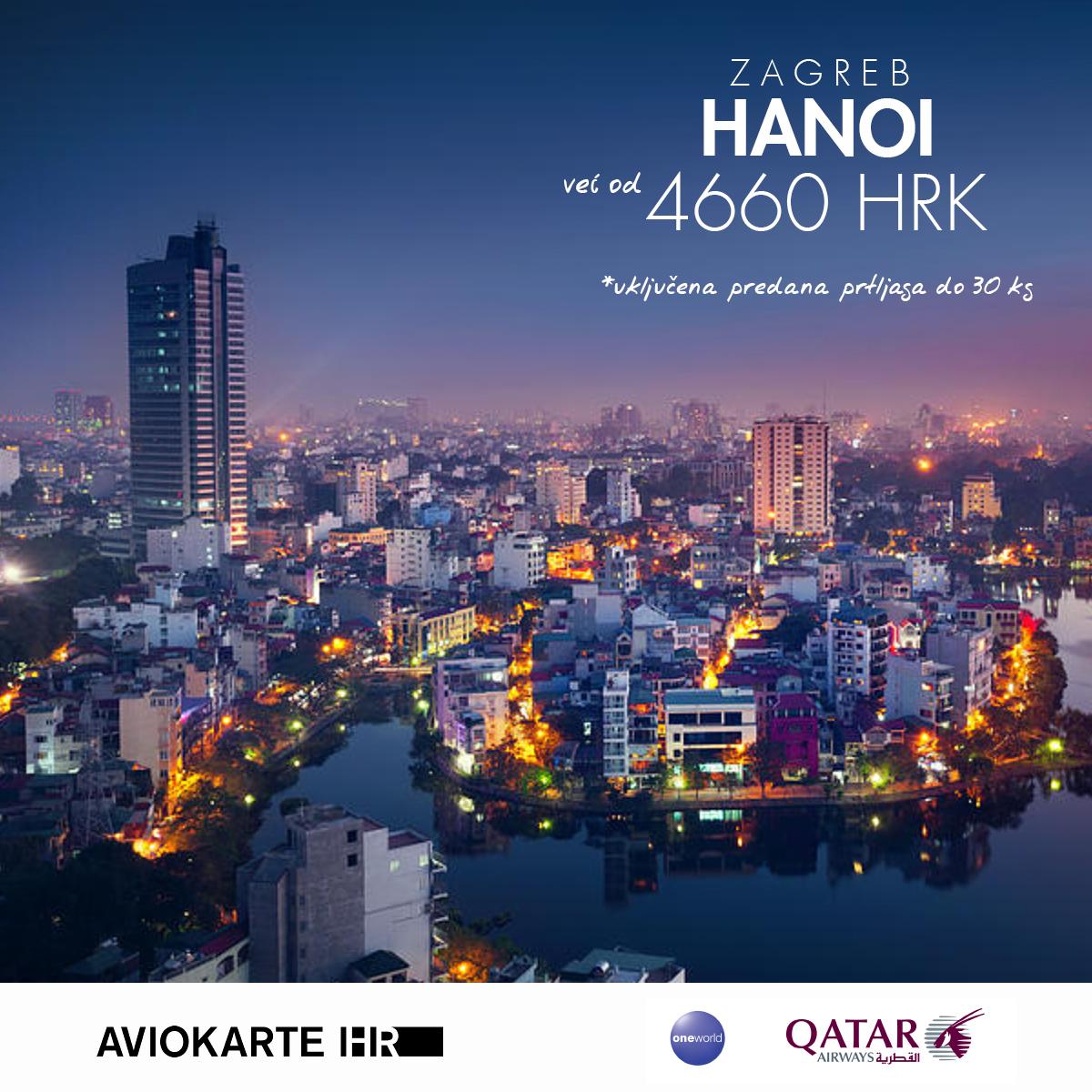 Hanoi vizual, Hanoi već od 1400 kuna, Hanoi jeftine avio karte, putovanje za Hanoi
