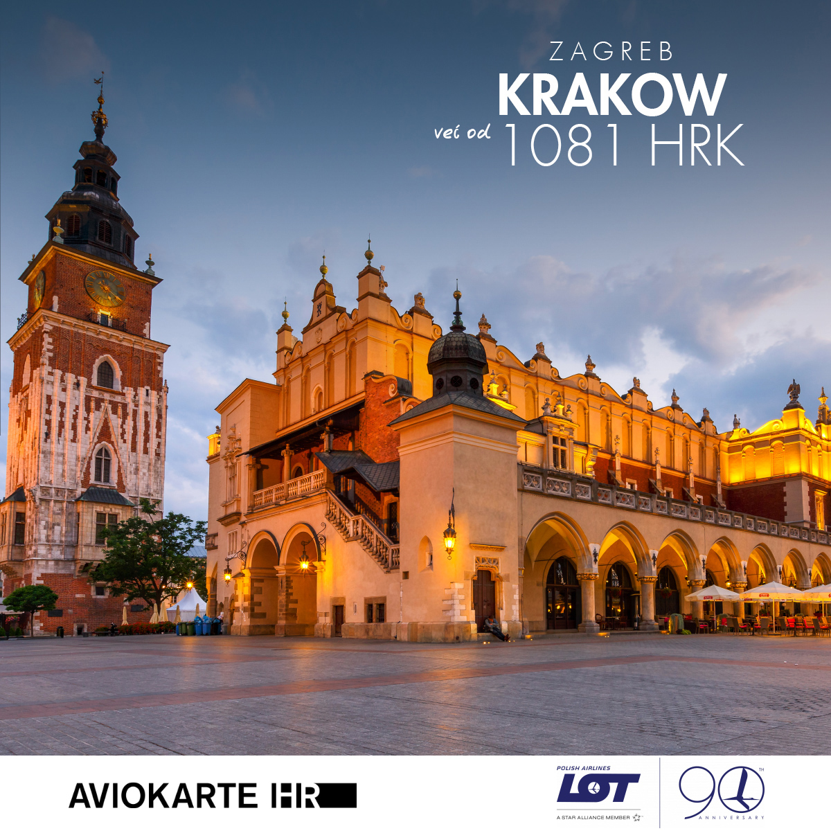 Krakov vizual, Krakov već od 1400 kuna, Krakov jeftine avio karte, putovanje za Krakov