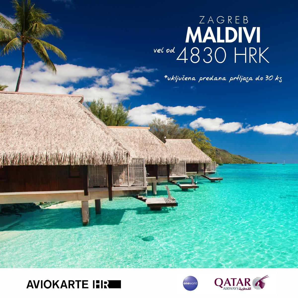 Los Angeles vizual, Maldivi već od 1400 kuna, Maldivi jeftine avio karte, putovanje za Maldivi