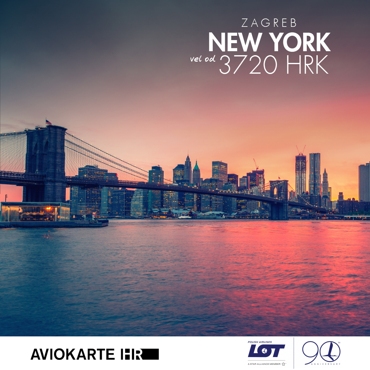 New York vizual, New York već od 1400 kuna, New York jeftine avio karte, putovanje za New York