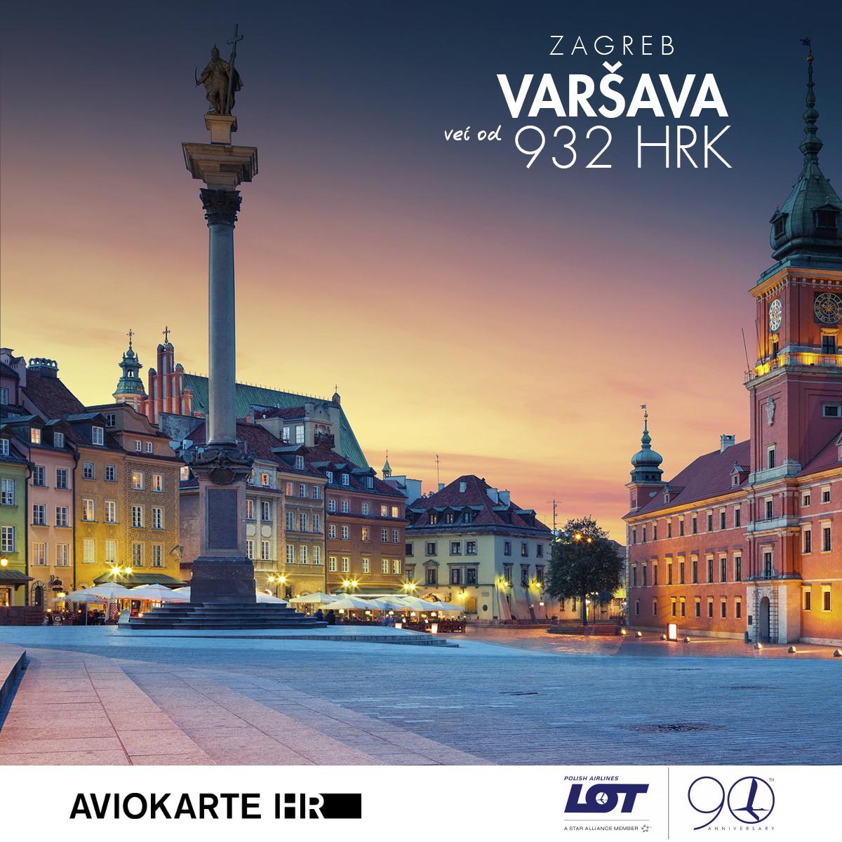 Varšava vizual, Varšava već od 1400 kuna, Varšava jeftine avio karte, putovanje za Varšava